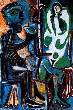 Pablo Picasso - El pintor y su modelo de 3  (Painter and his model 3)