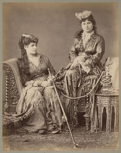 PASCAL SEBAH (1823-1886) Turkish Women at Home, Constantinople, 1860 Albumen print from a glass negative, mounted, numbered in the negative « 620 », annotated « Constantinople—Femmes turques chez elles » on mount, 258 x 204 mm.