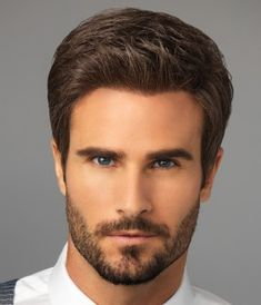 Trending Hairstyles For Men Looks Cool With Beards - Adzkiya Website Trending Hairstyles For Men, Cool Hairstyles For Men, Haircuts For Men, Straight Hairstyles, Short Straight Hair, Short Hair Cuts, Wilshire Wigs, Pelo Formal, Beard Model
