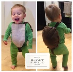 Sew baby turtle costume. Make infant turtle costume. One Project at a Time - DIY Blog