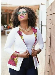 Classic african print ankara jackets for beautiful ladies, beautiful but simple ankara jacket styles with ankara print and designs African Fashion Designers, African Dresses For Women, African Print Dresses, African Print Fashion, Africa Fashion, African Attire, African Wear, African Fashion Dresses, African Women