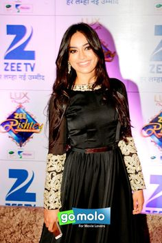 Surbhi Jyoti at Zee Rishtey Awards 2015 in Mumbai Lace Skirt, Sequin Skirt, Qubool Hai, Beautiful Dresses, Beautiful Women, Indian Dresses, Bollywood Actress, Awards, Celebs
