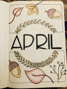 {Bullet Journal} My autumn April theme. Felt proper uninspired this month, but hey - some is better than none