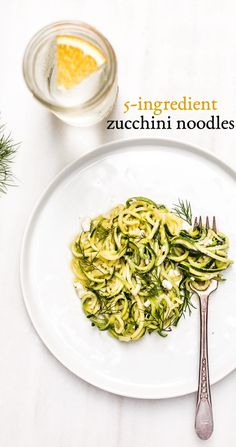 5-Ingredient and vegetarian zucchini noodles recipe - Ready in 20 min