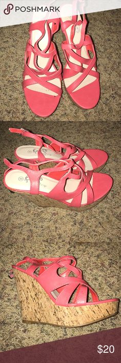 Daytrip Coral wedges Never been worn. NWOT Daytrip Shoes Wedges