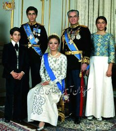 The Iranian Royal Family.........http://www.pinterest.com/madamepiggymick/arab-royalty-iran/