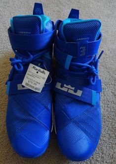 Nike Lebron Size 16 Blue High Top NWT Made/China Compare @ 0.00 Marked .99
