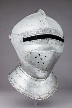 Armet Date: ca. 1500 Culture: Italian Medium: Steel, leather, copper alloy Dimensions: H. 14 3/4 in. (37.5 cm); W. 9 1/2 in. (24.1 cm); D. 12 3/16 in. (31 cm); Wt. 7 lb. 6 oz. (3350 g)