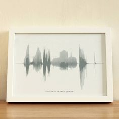 record your voice and then take an image of the sound wave you created and turn it into a framed print - really creative gift idea.