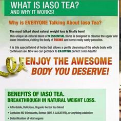 Grand Prize: 1 Week supply of Iaso Tea Lose Weight, Weight Loss, Natural Herbs, Detox Tea, How To Stay Healthy, Cleanse, Rid, Messages, Website