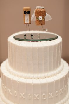 cork bride and groom cake topper - Google Search