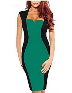 GGN Women's Fashion Elegant Contrast Color Bodycon Dress. Get significant discounts up to 80% Off at Light in the Box using Coupons.