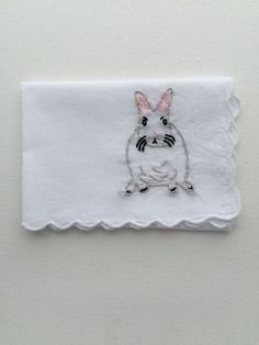 Hand Embroidered Bunny Gift Bunny Lover Animal Embroidery Modern Embroidery Secret Santa Gift Hanukkah Gift