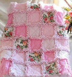 Lovely shabby chic blanket