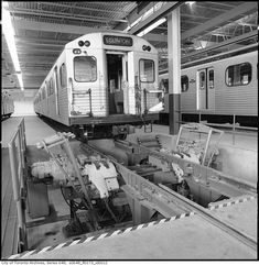 In the Toronto Transit Commission was putting the finishing touches on its first (and to date only) major east-west subway. Toronto Ontario Canada, Toronto City, Amazing Photos, Cool Photos, Underground Tube, Rapid Transit, 50 Years Ago, North York, Busses