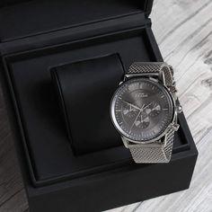 The Kinsale silver chronograph⌚️ #grandfrankwatches   www.Grandfrank.com