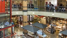 Interior of Lonsdale Quay Market North Vancouver showing two of its three levels of shops. Lived right close to here North Vancouver, North Shore, Conference Room, Shops, Canada, Places, Interior, Travel, Shopping