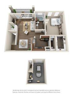 One, Two, Three & Four Bedroom Apartments In Rockwall, Tx on Home Inteior Ideas 7314 Apartment Layout, One Bedroom Apartment, Dream Apartment, Apartment Design, Sims House Plans, Small House Plans, House Floor Plans, Bedroom Layouts, House Layouts