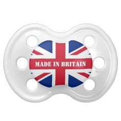 Union Jack ♔ Baby Pacifier I have a feeling I will get this when I have kids!