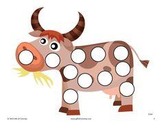 Шаблоны для пальчикового рисования - животные - Развивающие материалы - Блог