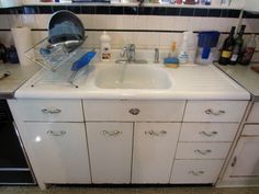 vintage double drainboard steel and enamel sink - Enamel Kitchen Sink