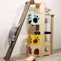 Cats Toys Ideas - 루키타워 (하단콘도 일체형) - Ideal toys for small cats Cat Ideas, Cat Tree House, Diy Cat Tree, Cat Towers, Ideal Toys, Cat Playground, Cat Room, Cat Condo, Pet Furniture