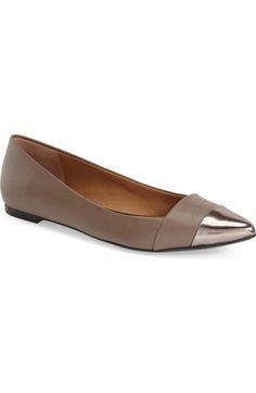 6c9b1973aa24 CALVIN KLEIN  Goldie  Pointy Toe Ballet Flat (Women).  calvinklein  shoes   flats