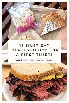 18 Must Eat Places in NYC For A First Timer - NOTSOBASICLONDON - - If it's your first time in the big apple, I've rounded up 18 must eat places in NYC for a first timer which will take you all over the city, eating some amazing food! New York City Vacation, Visit New York City, New York City Travel, New York City Eats, New York Trip, Restaurants In Nyc, York Things To Do, Places In New York, New York Essen