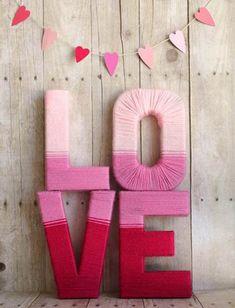 Letras gigantes para el día de San Valentín