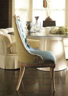 Hollywood Regency Decor. This chair is so beautiful.