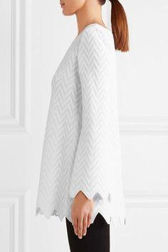 Alaïa - Zigzag Knitted Tunic - White - FR