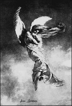 """Demon. M. Zichy. """"Demon"""" de Mikhail Lermontov"""