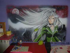 Mural pintado : Chica manga
