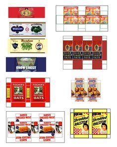 vintage food labels printables  lulu's kitchen
