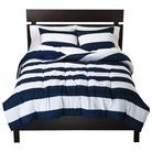 A great Rugby stripe comforter set from Target Room Essentials® Rugby Bedding Collection. #dorm