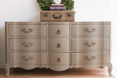 French Provencal Dresser in Gray on Etsy, $475.00