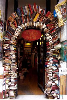 The Entrance Of A Bookstore