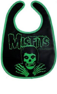 Amazon.com: Kiditude Misfits Punk Rock Baby Bib: Baby