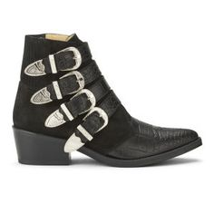 these are stunning!!!    Toga Pulla Women's Embossed Leather/Suede Buckle Ankle Boots