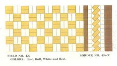 vintage-yellow-and-white-1930s-tile-floor. Floor pattern for the bathroom?