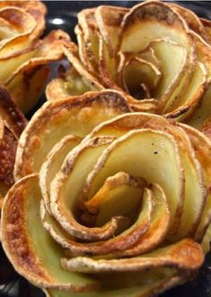 These crispy potato roses are baked and not fried!