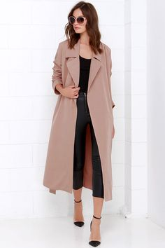 Night Drive Blush Trench Coat//