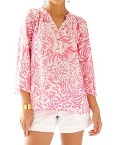 Lilly Pulitzer Elsa Top in Pink Get Spotted
