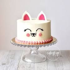 Ideas Birthday Cake Girls Cat For 2019 Kitty Party, Pretty Cakes, Cute Cakes, Birthday Cake For Cat, Birthday Ideas, Baby Girl Cakes, Cake Baby, Lime Cake, Animal Cakes