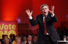 An animated Gordon Brown gets his point across during a Better Together Rally in Glasgow,ahead of next Thursday referendum on Scottish Independence.