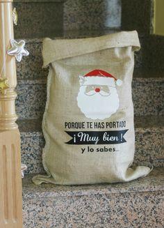 Saco de regalos Navidad Papa Noel: