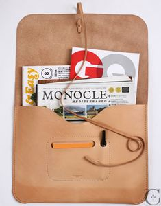 menswearmonday: A man's reading essentials. Leather Pouch, Leather Purses, Leather Projects, Leather Crafts, School Shopping, Leather Accessories, Leather Working, Paper Shopping Bag, Purses And Bags