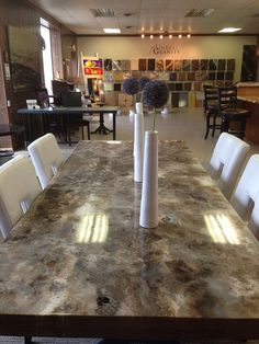 granite dining room sets |  granite contemporary dining table +