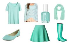 """~Mint Green Galore~"" by alexandra-papazian12 ❤ liked on Polyvore featuring Target, Essie, Tobi, Chicwish, malo and mintgreen"