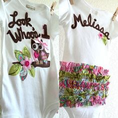 First birthday Owl GIRLS 1st Personalized Ruffle by ThePeachyOwl, $33.00 Like, Comment, Repin !!